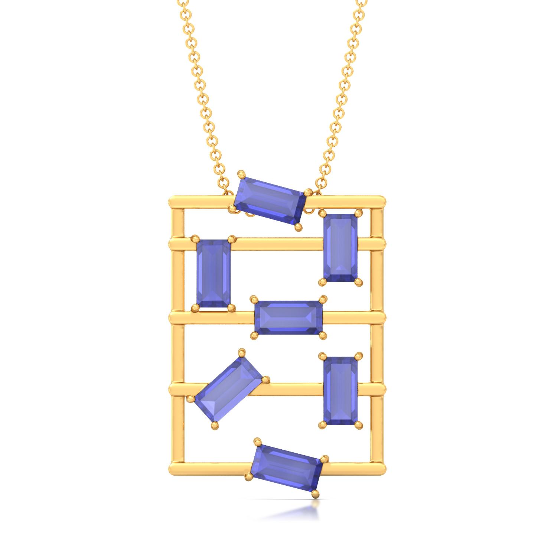 Random Rectangle Gemstone Pendants