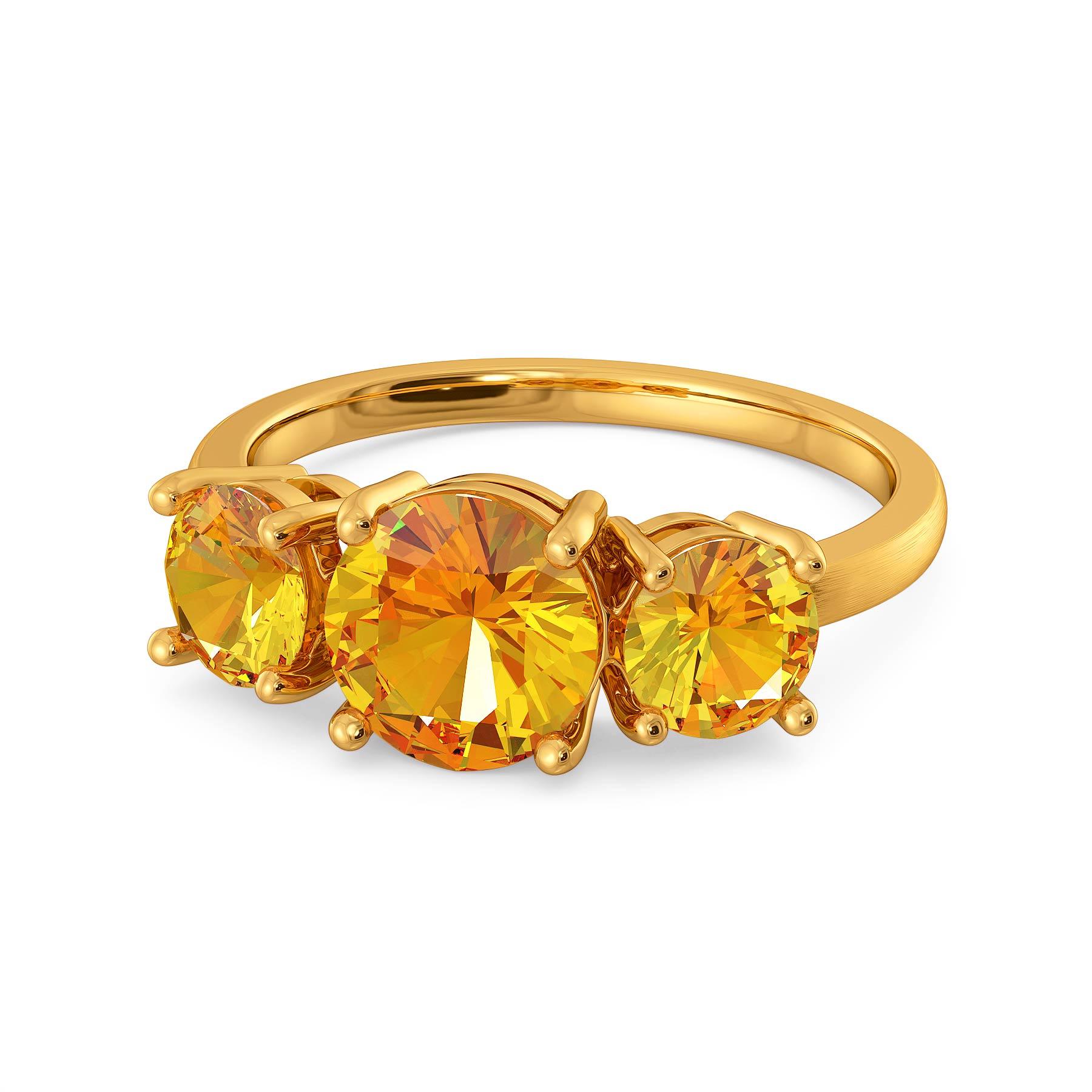Earthy Elegance Gemstone Rings
