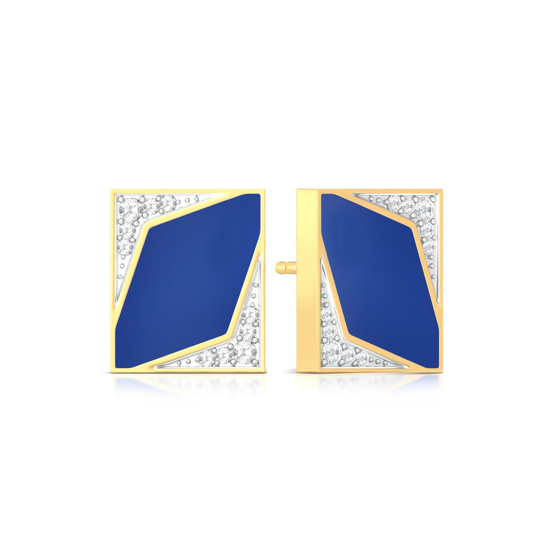 Indigo Star  Diamond Earrings