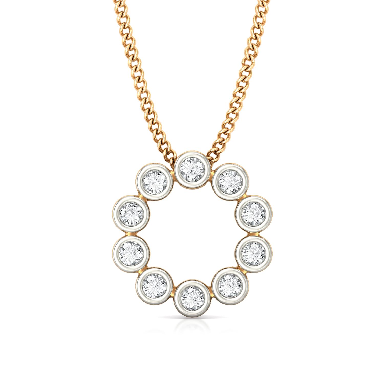 Endless Loop Diamond Pendants