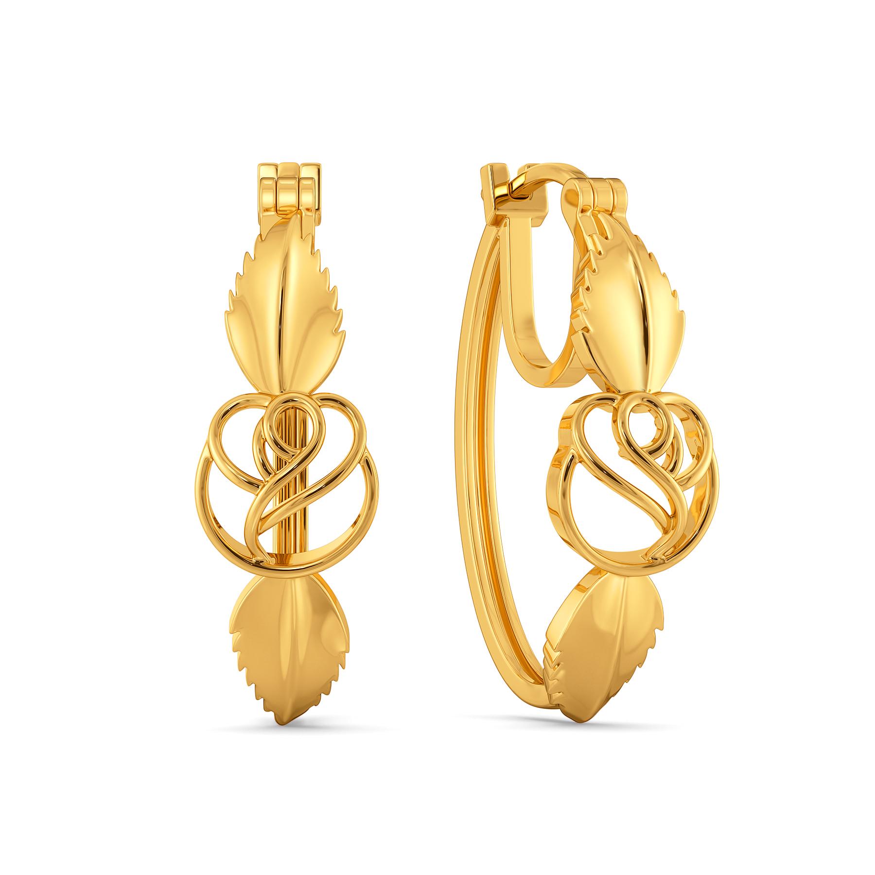Thorn O Rouge Gold Earrings