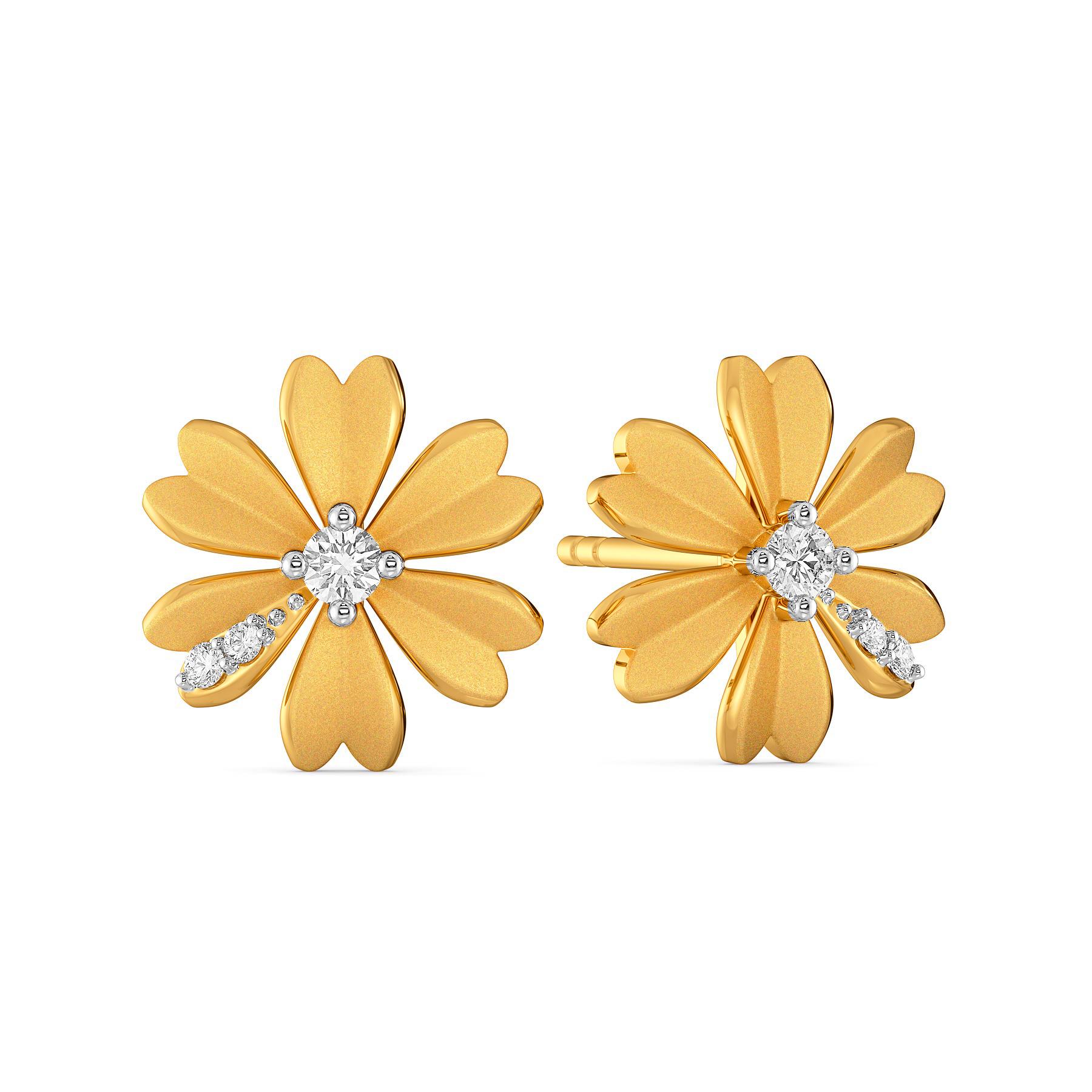 Peek-a-Bloom Diamond Earrings