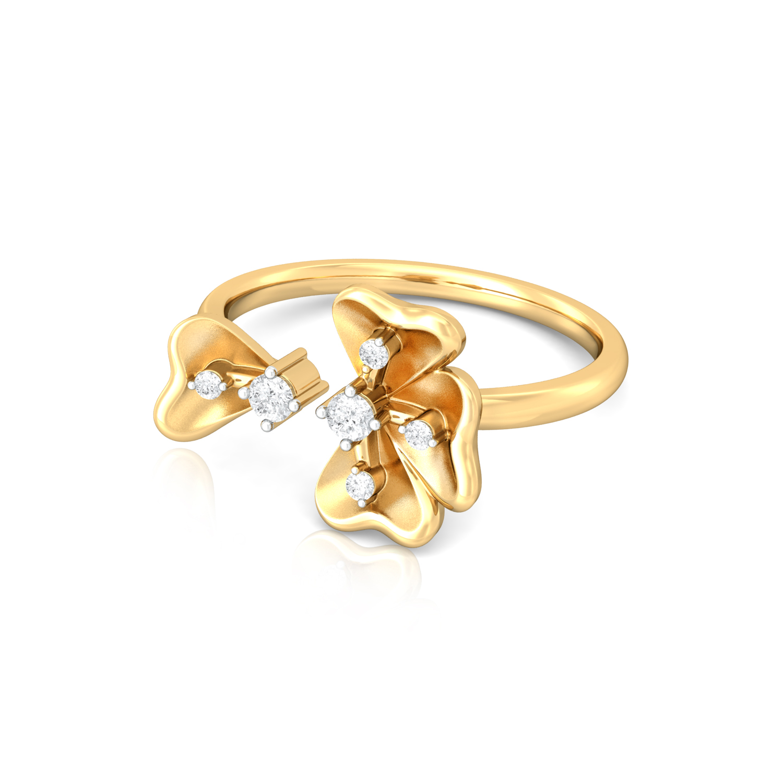 Fall Flowers Diamond Rings