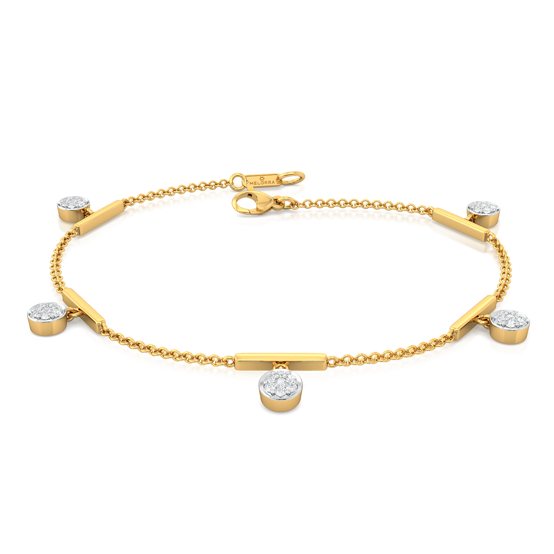 Curves of Shimmer Diamond Bracelets