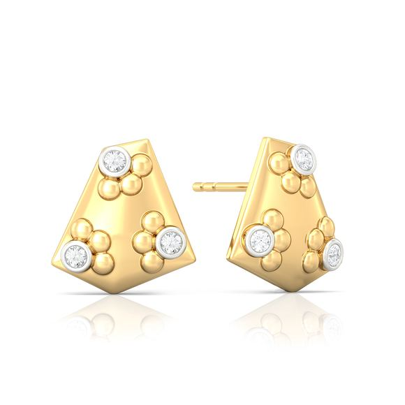 Eclectic polygon Diamond Earrings