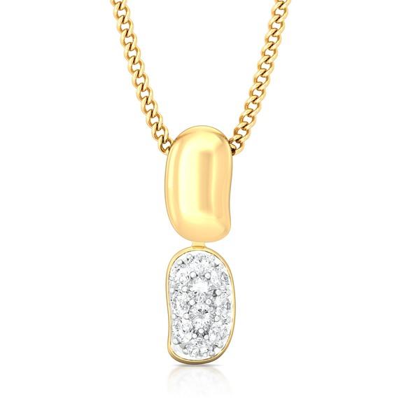 Bean gleam Diamond Pendants