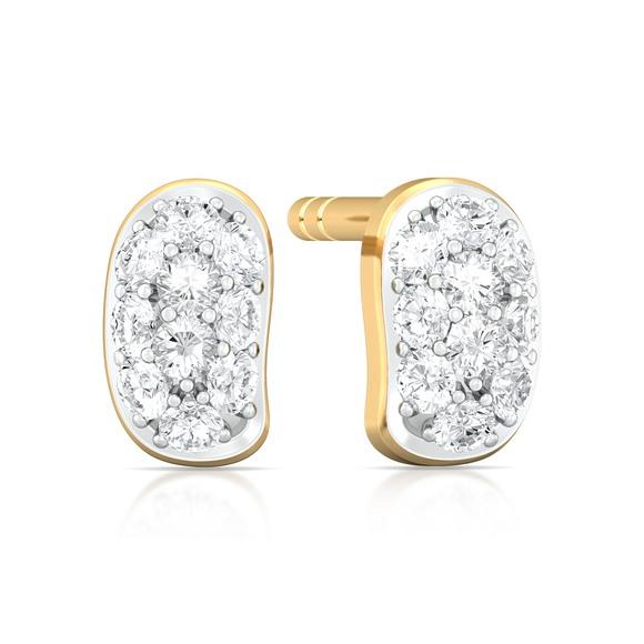 Bean gleam Diamond Earrings