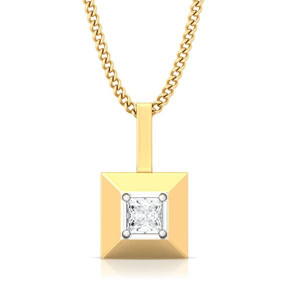 Pyramid Valley Diamond Pendants