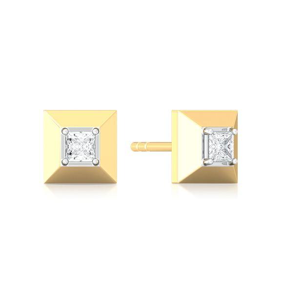 Pyramid Valley Diamond Earrings