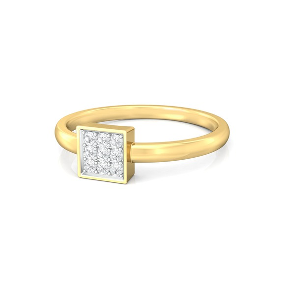 All Square Diamond Rings