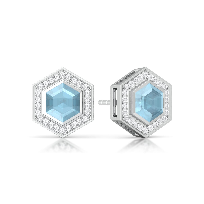 Belle in Blue Diamond Earrings