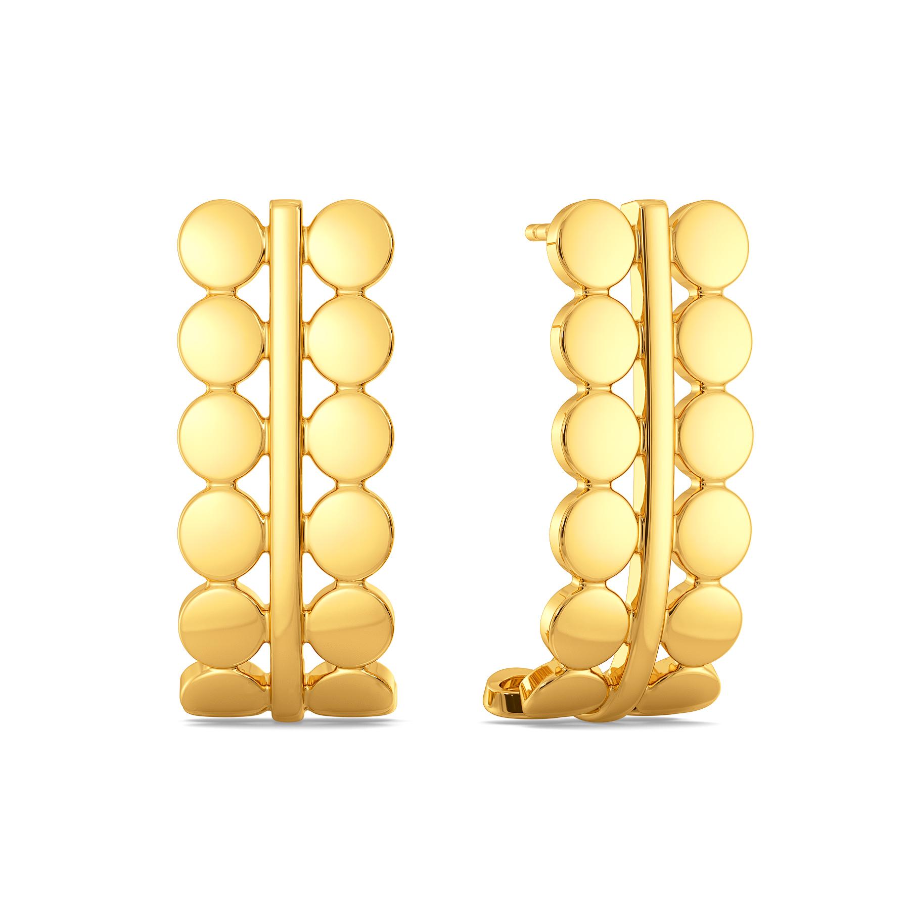 Bold Glitterati Gold Earrings