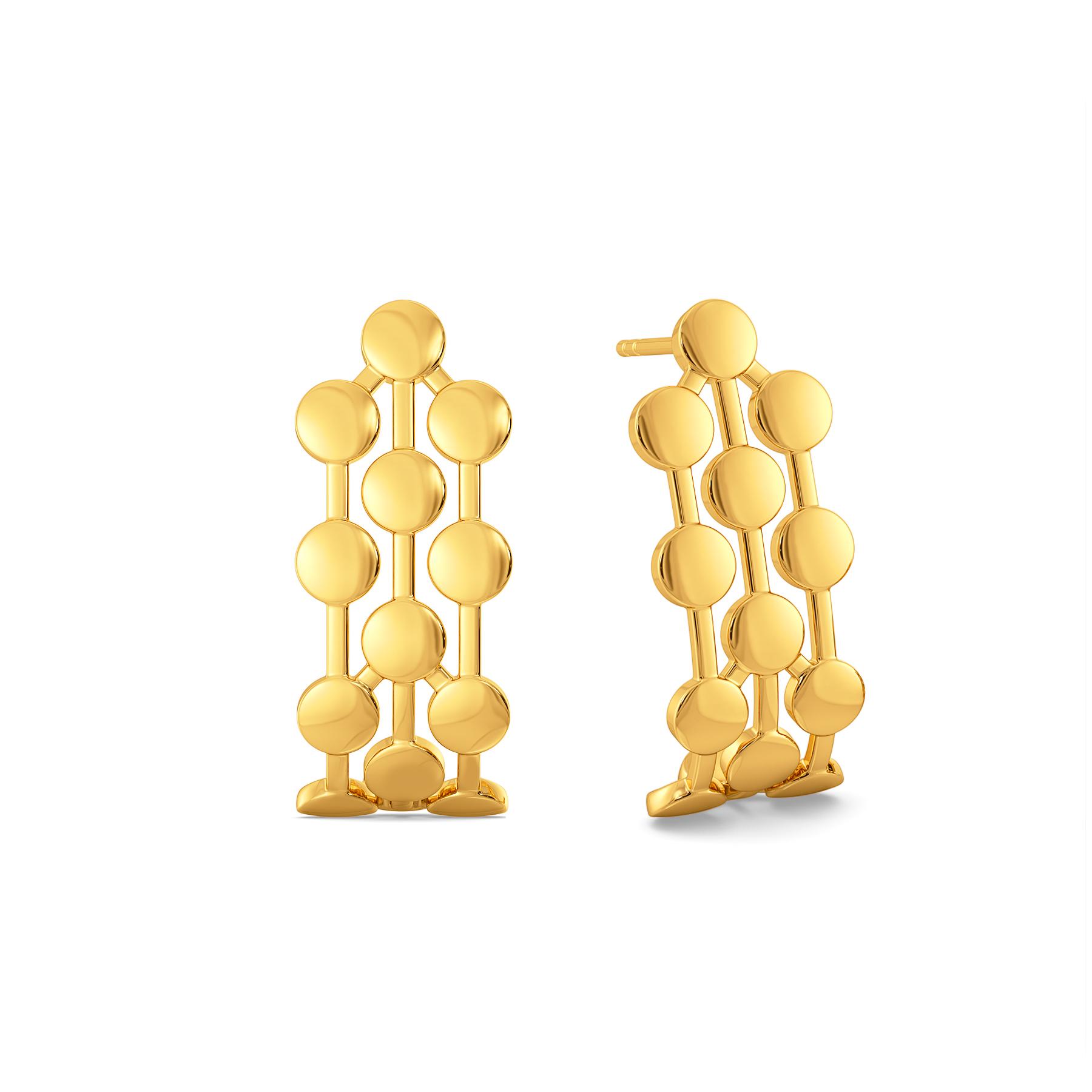 Dazzle Like Liza Gold Earrings