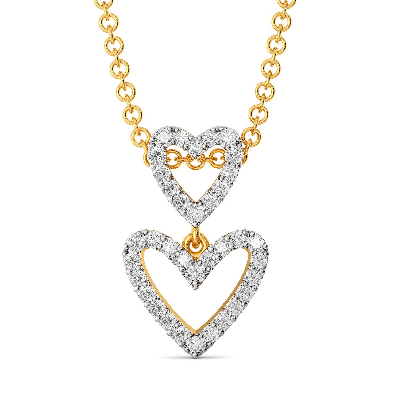 The Bow Story Diamond Pendants