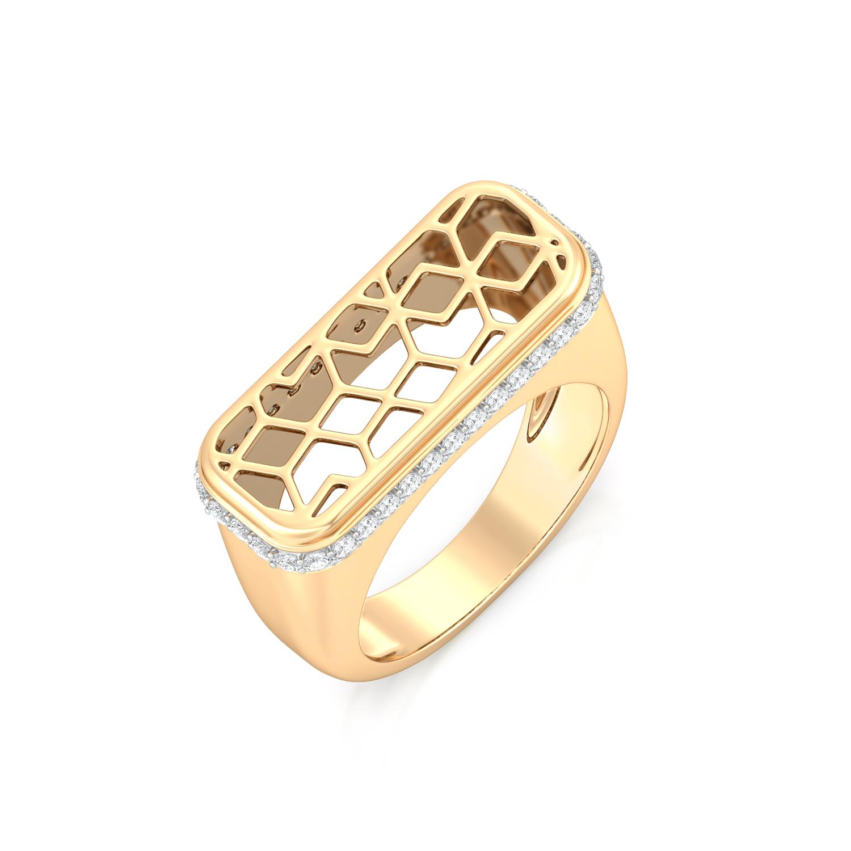 Gold Web Diamond Rings