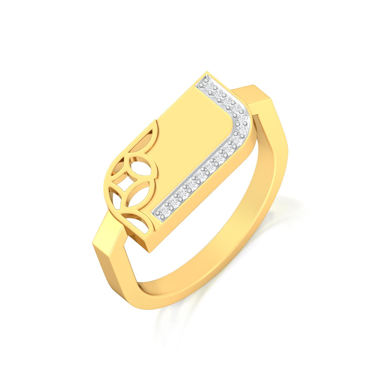 Lace Trim Diamond Rings