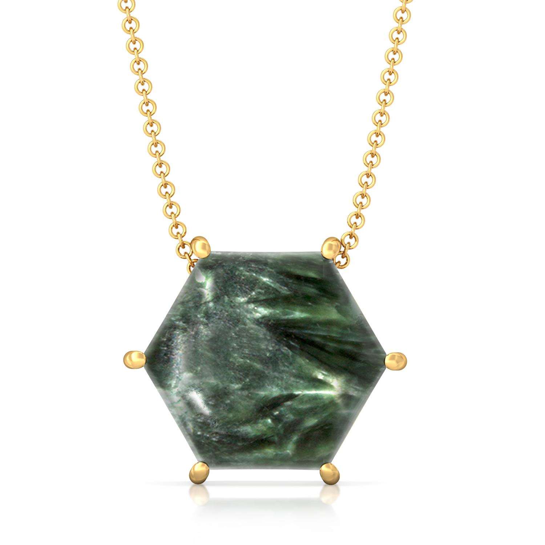 Hexa-Seraphinite  Gemstone Pendants
