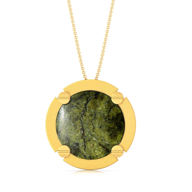 Green Bolts Gemstone Pendants