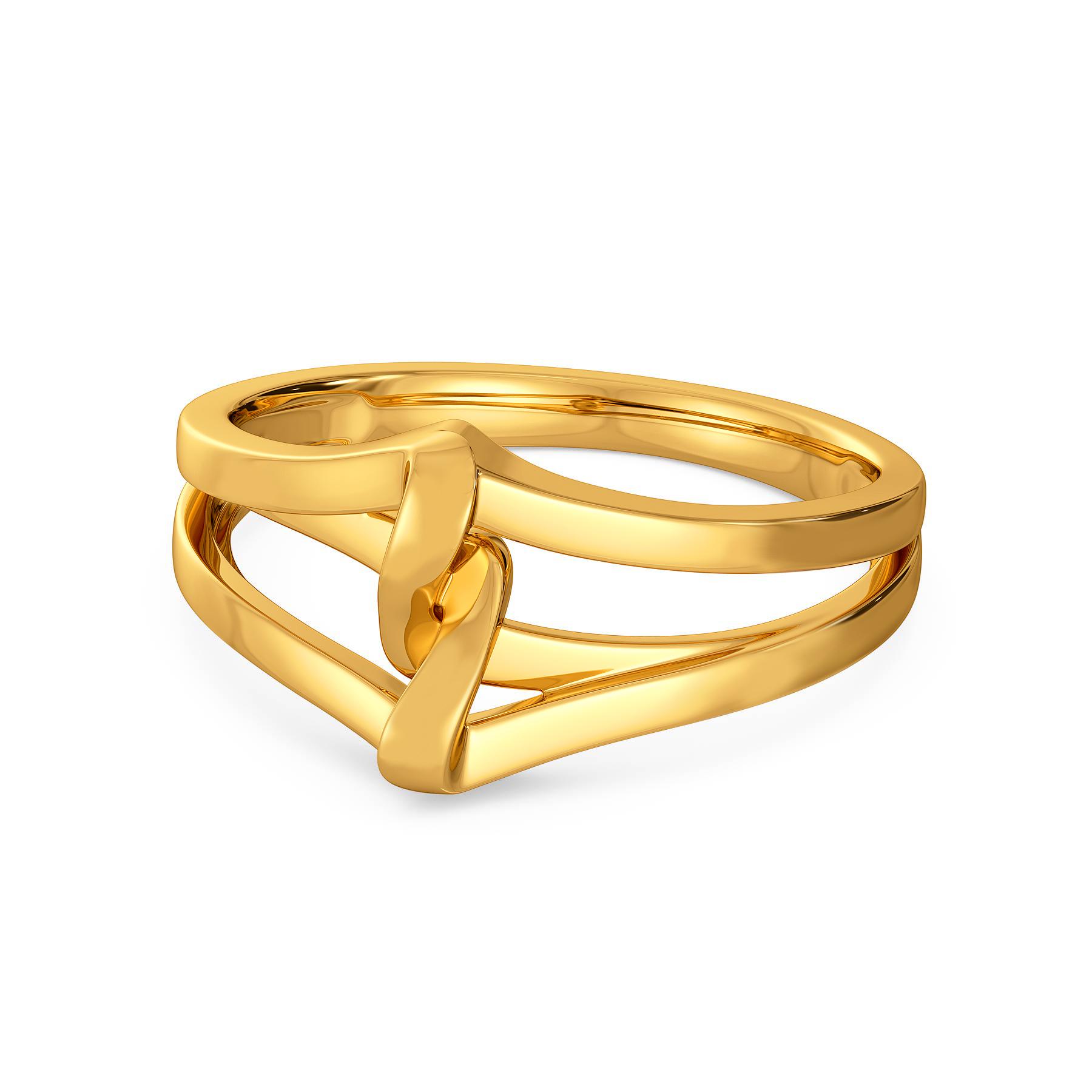 Short N Sophisticated Gold Rings