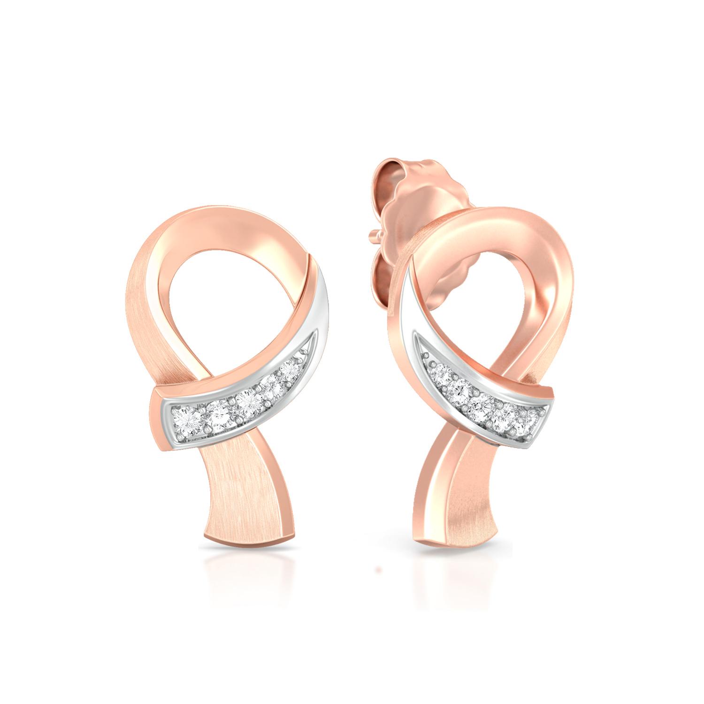 Ribbon Loop Diamond Earrings