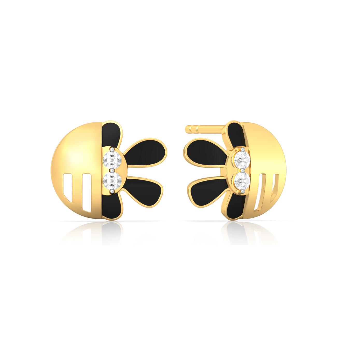 Clashing beats Gemstone Earrings