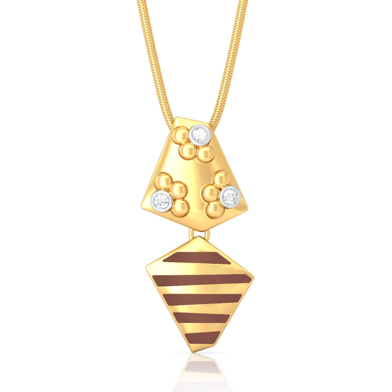 Eclectic fusion Diamond Pendants