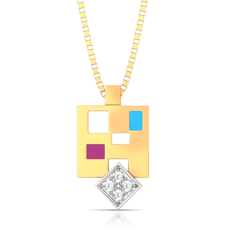 Pixel maze Diamond Pendants
