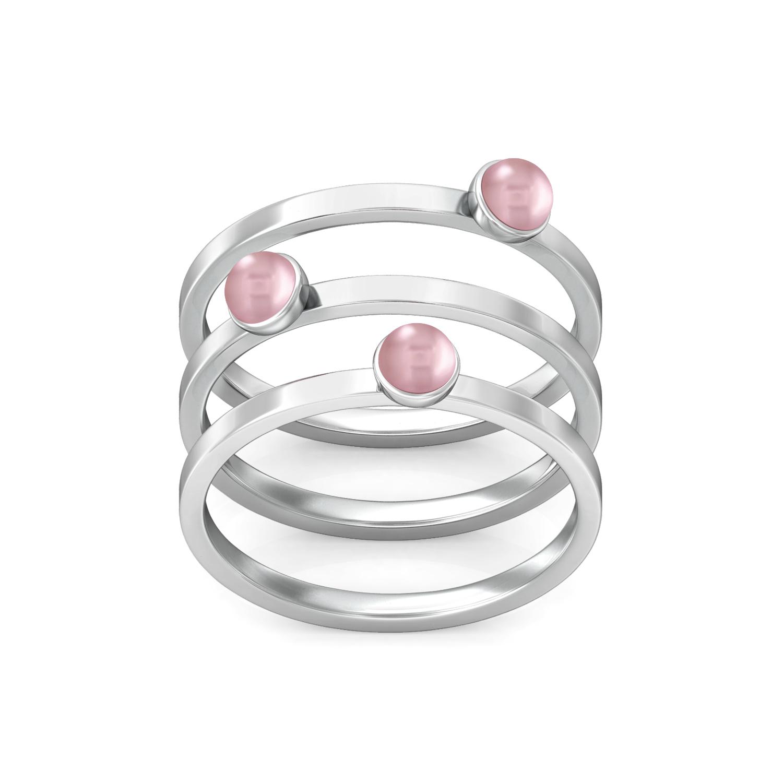 Dots & Dashes Gemstone Rings