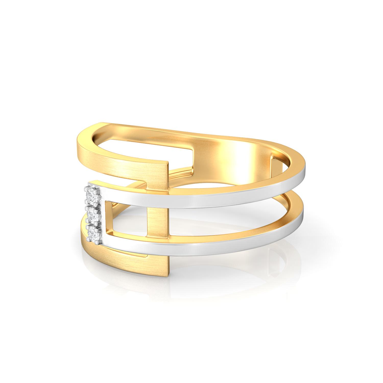 Jazz Bars Diamond Rings