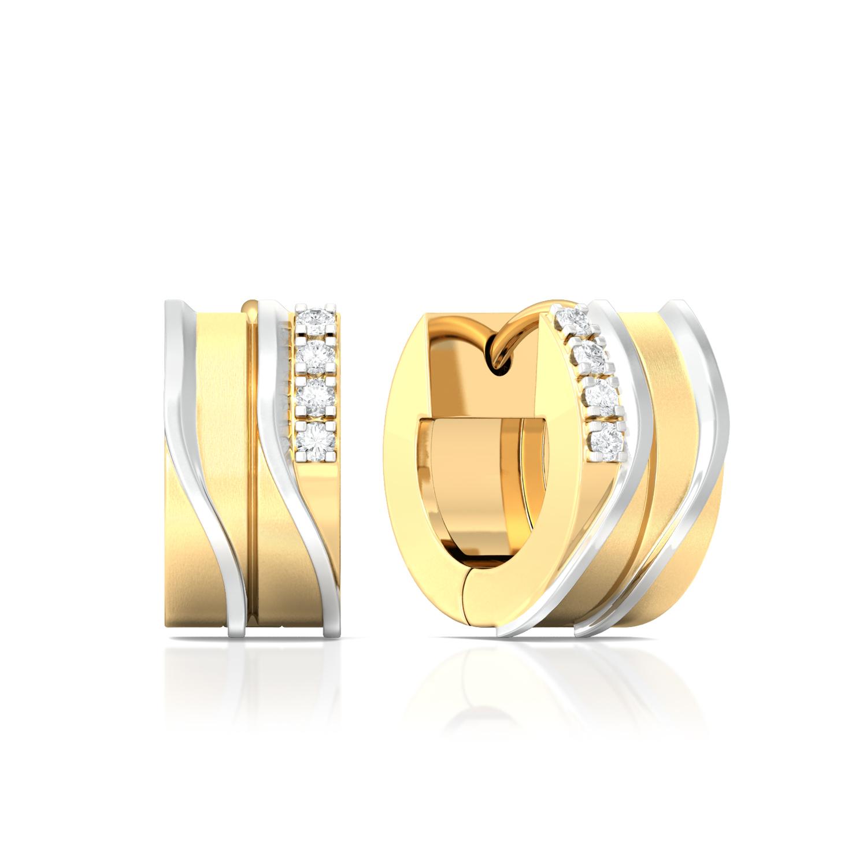 Crossed Tracks Diamond Earrings
