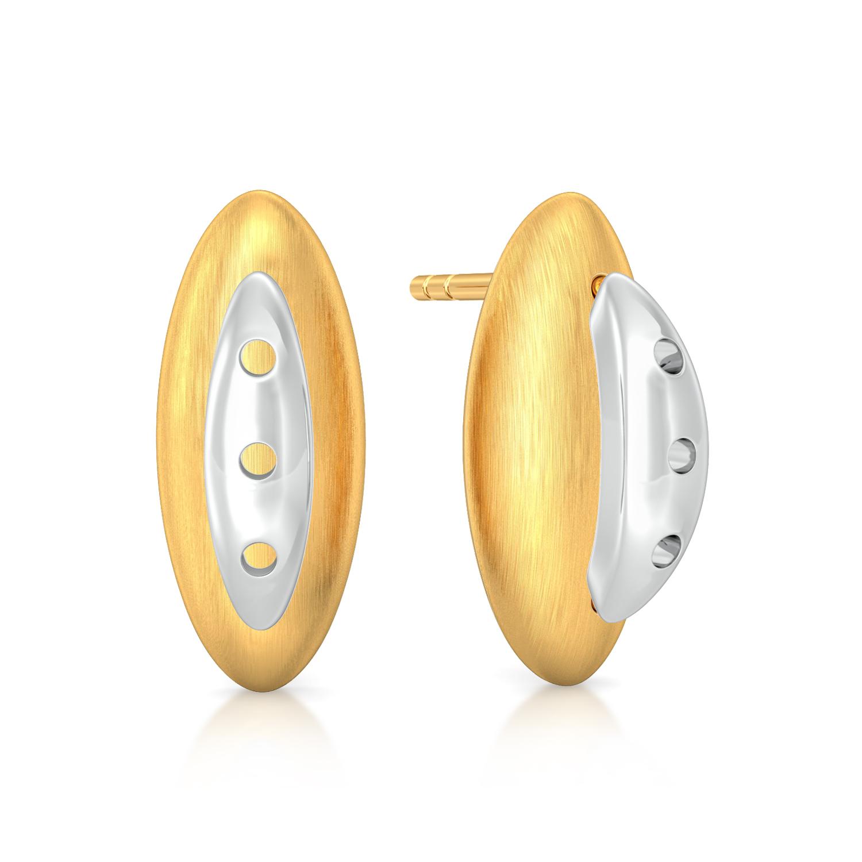 Yellow husk Gold Earrings