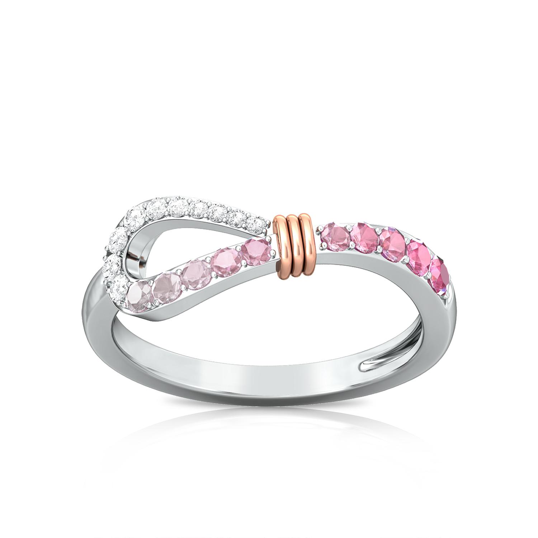 Brushed Pink Diamond Rings