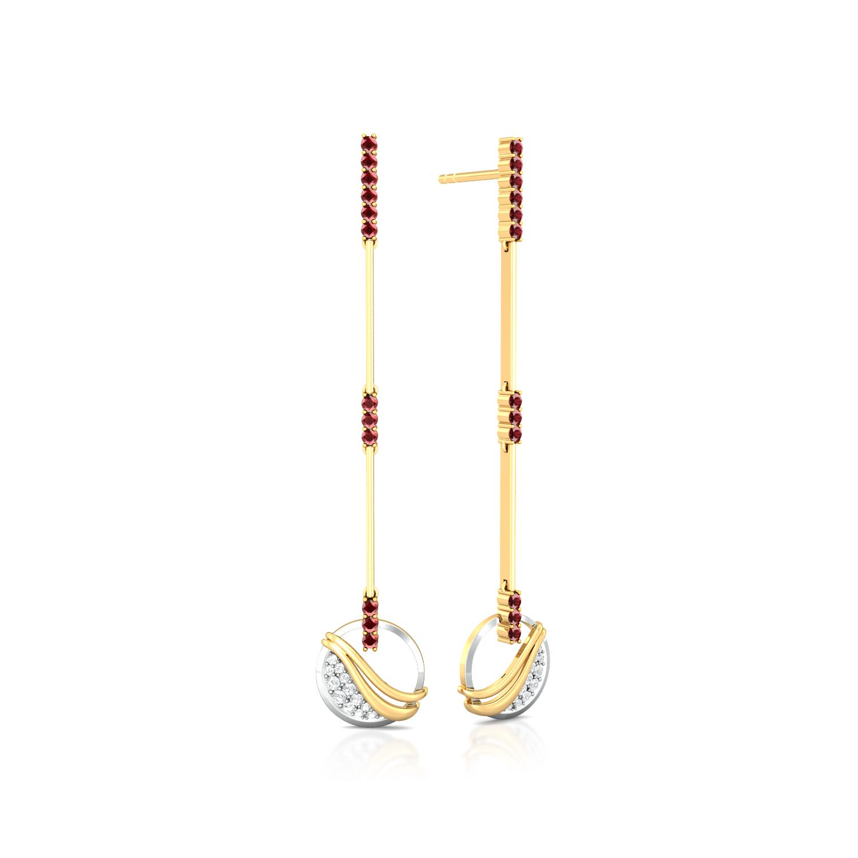Fire and Ice Diamond Earrings