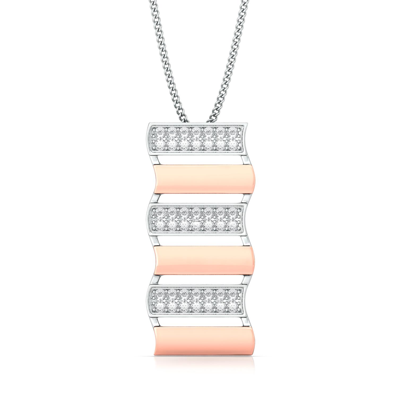Step Ladder Diamond Pendants