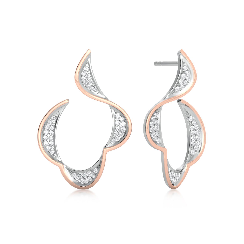 Scallooper Diamond Earrings