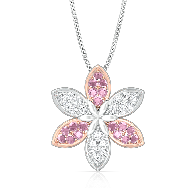 Pink Jasmine Diamond Pendants