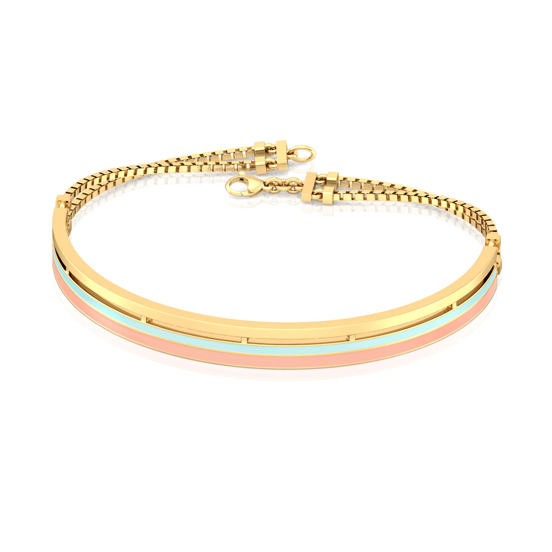 Striped Halo Gold Bracelets