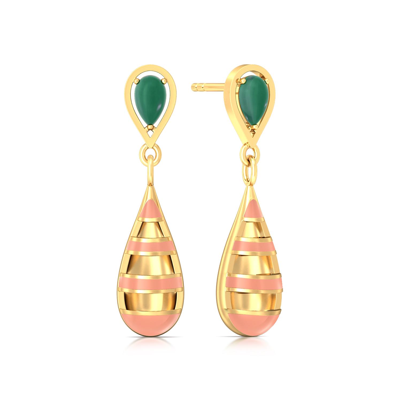 Bayadere Stripes Gemstone Earrings