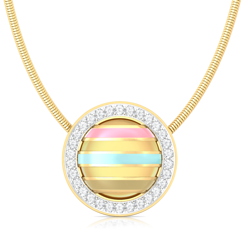 Shell & Sand Diamond Pendants