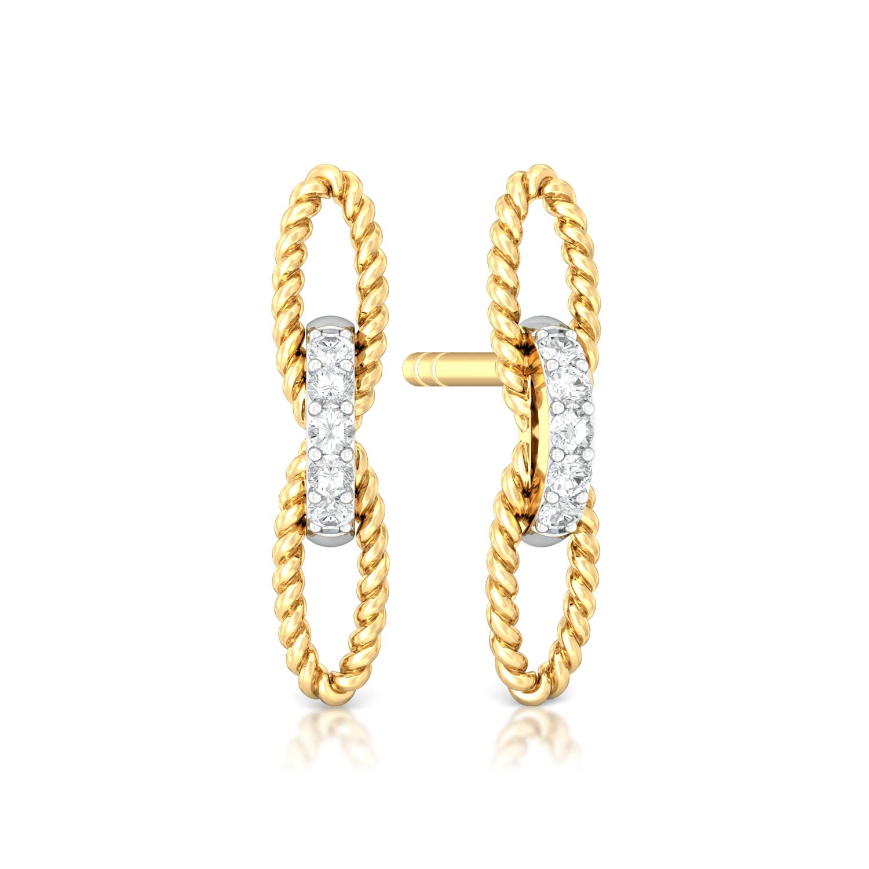 Twist of Fate  Diamond Earrings