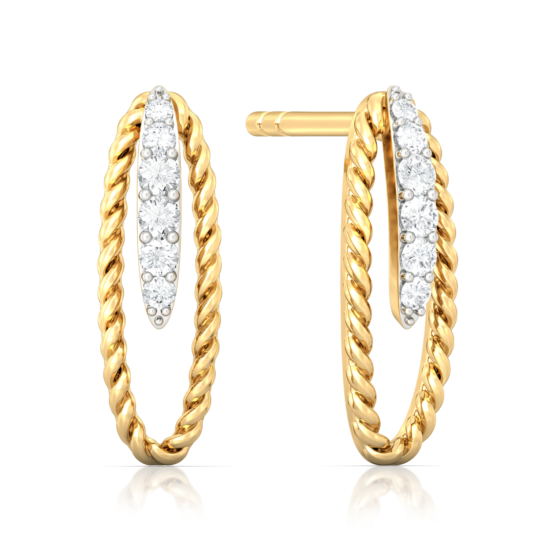 Seed of Life Diamond Earrings