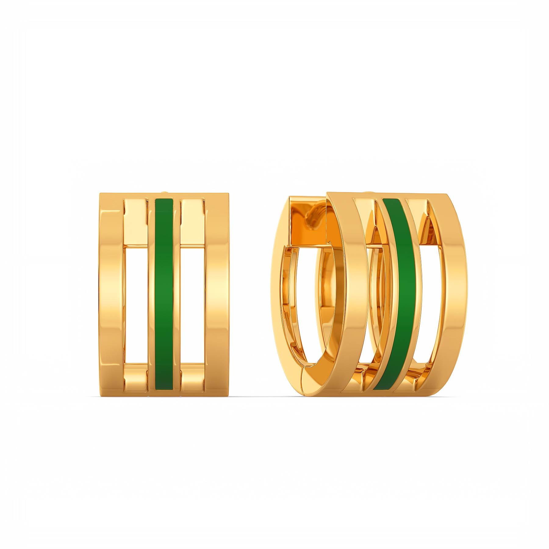 Girl power Gold Earrings