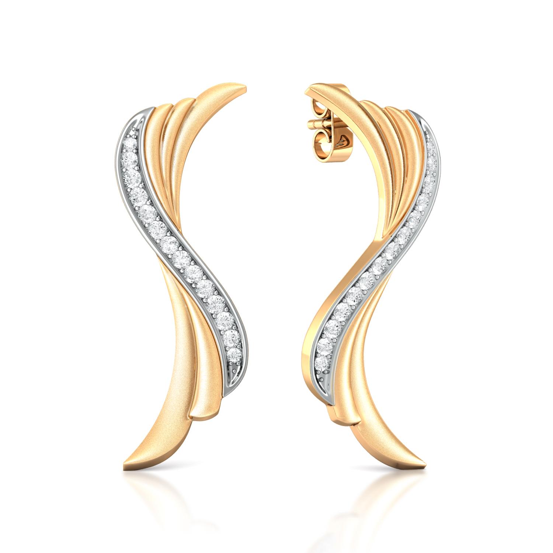 Ruffled Bow Diamond Earrings