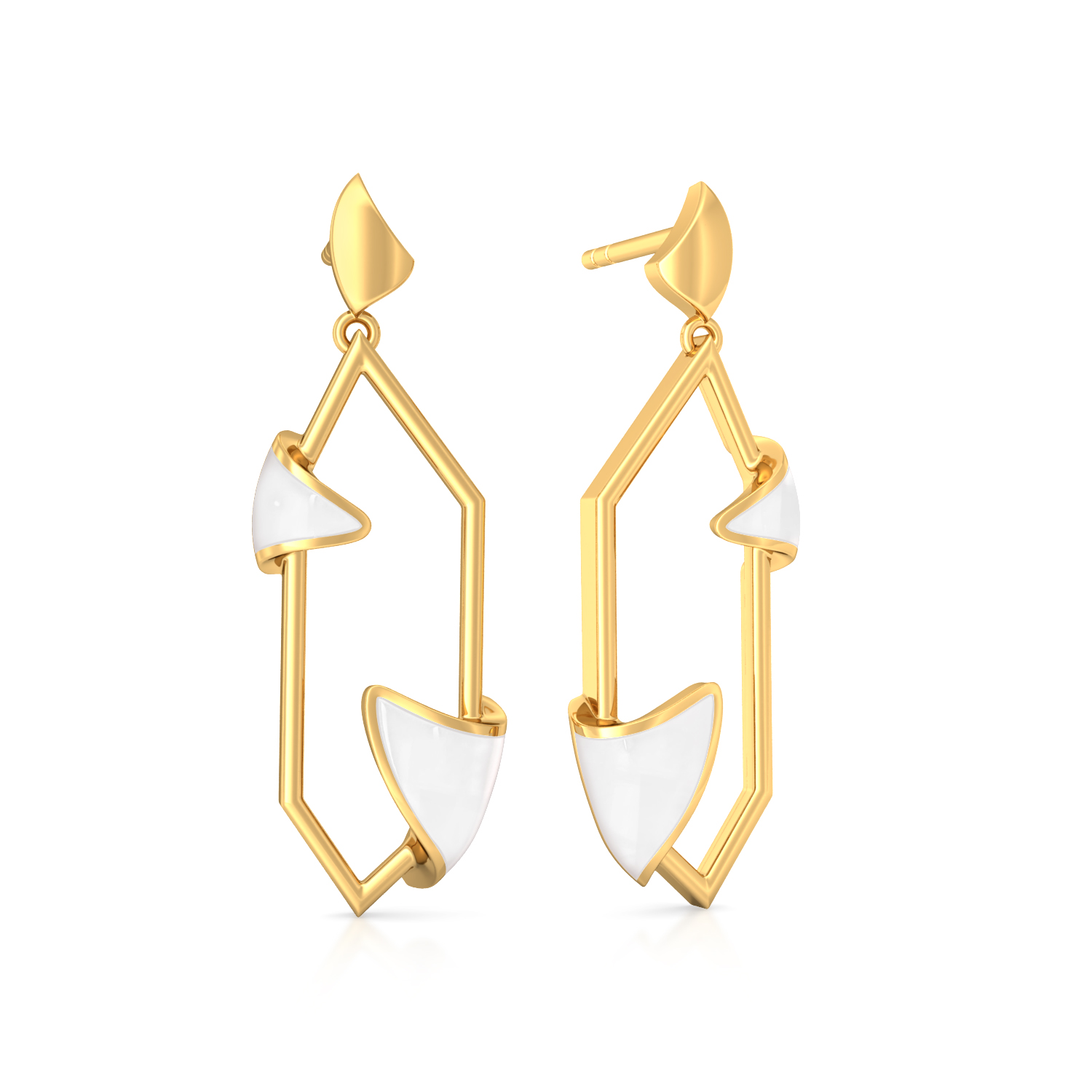 The Polygon Ruse Gold Earrings