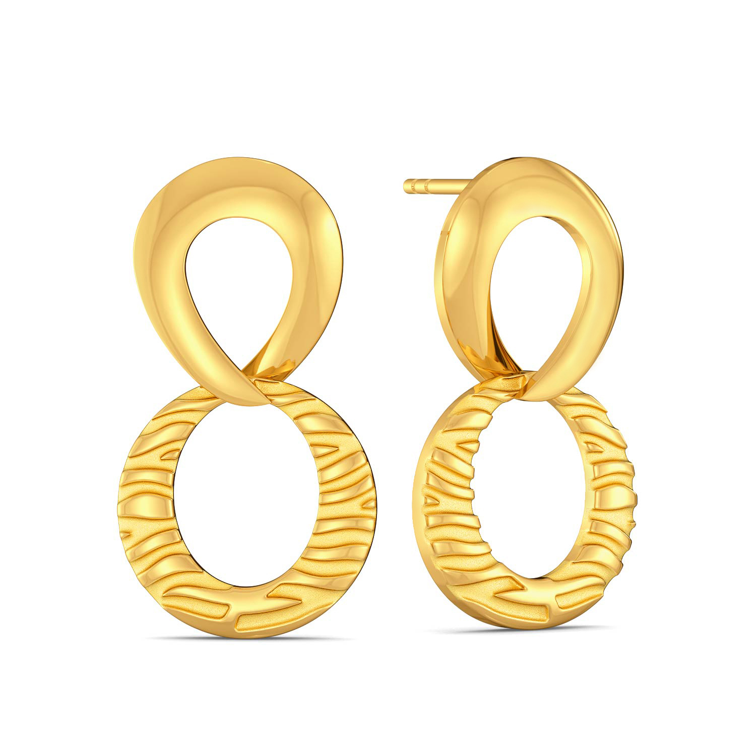 Call Of The Wild Gold Earrings