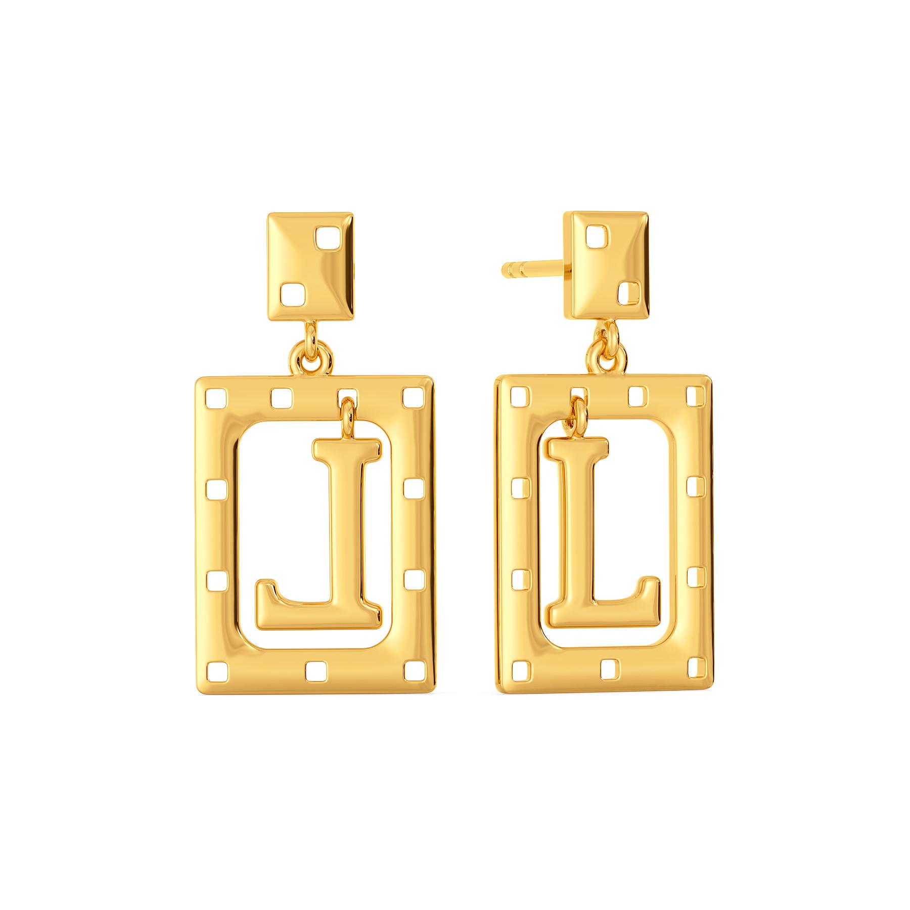 Love Forever Gold Earrings