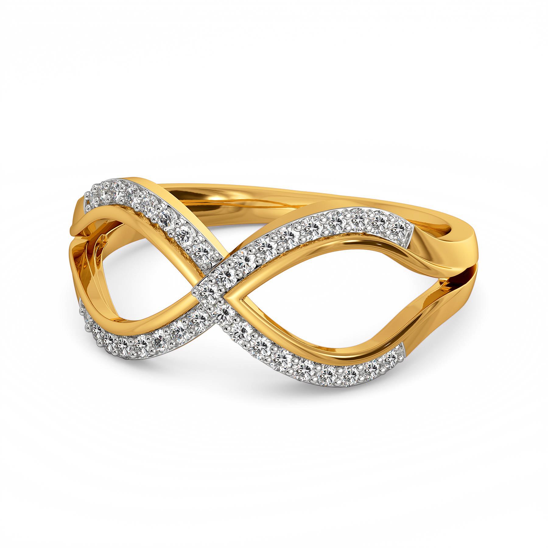 Sharp Layering Diamond Rings