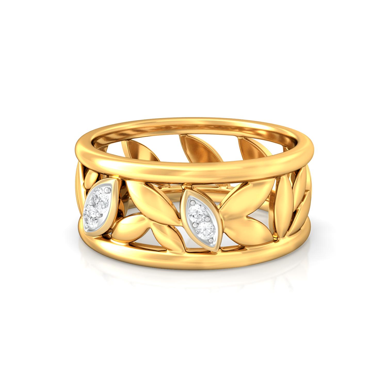 Leaves of Paradise Diamond Rings
