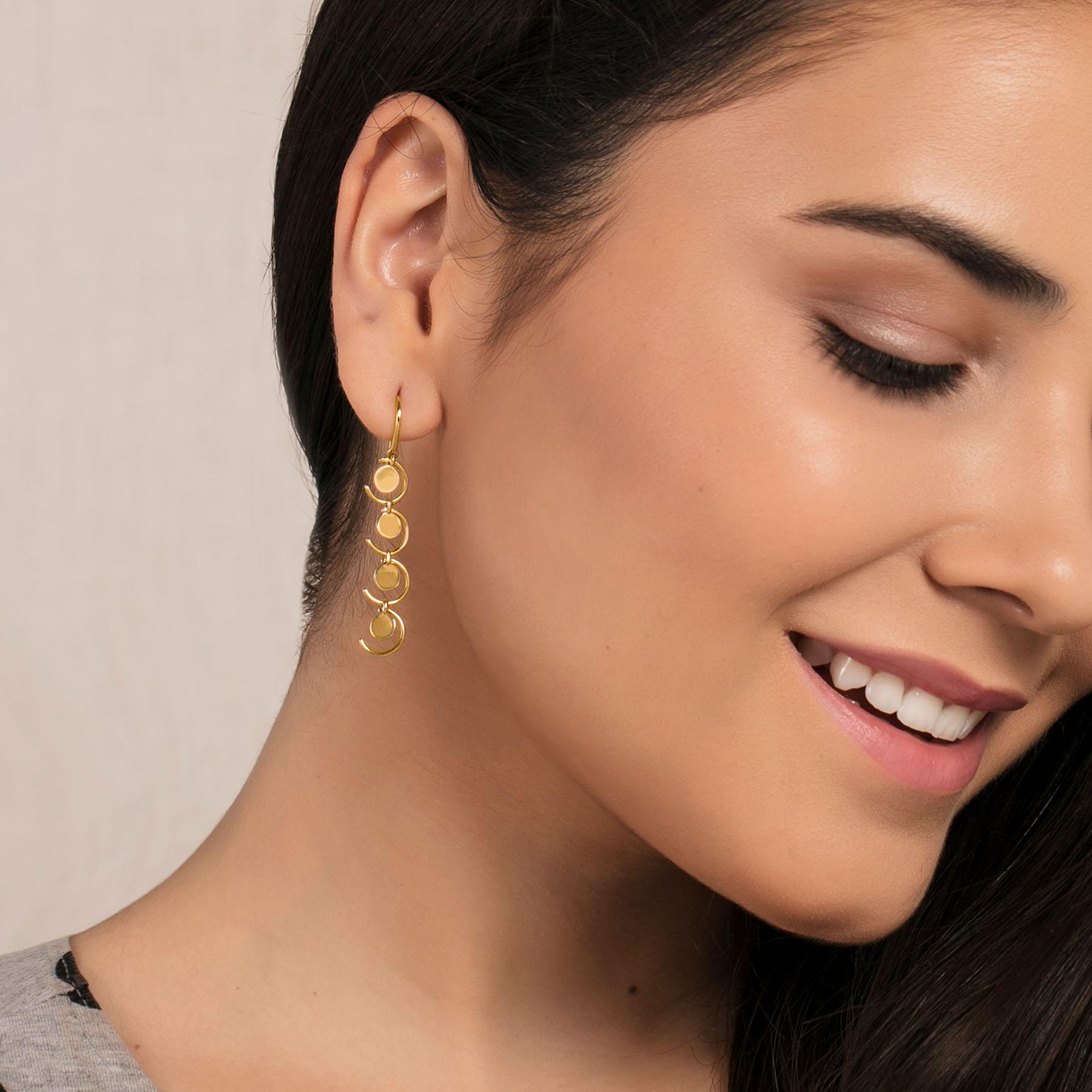 Sequin Sequel Gold Earrings