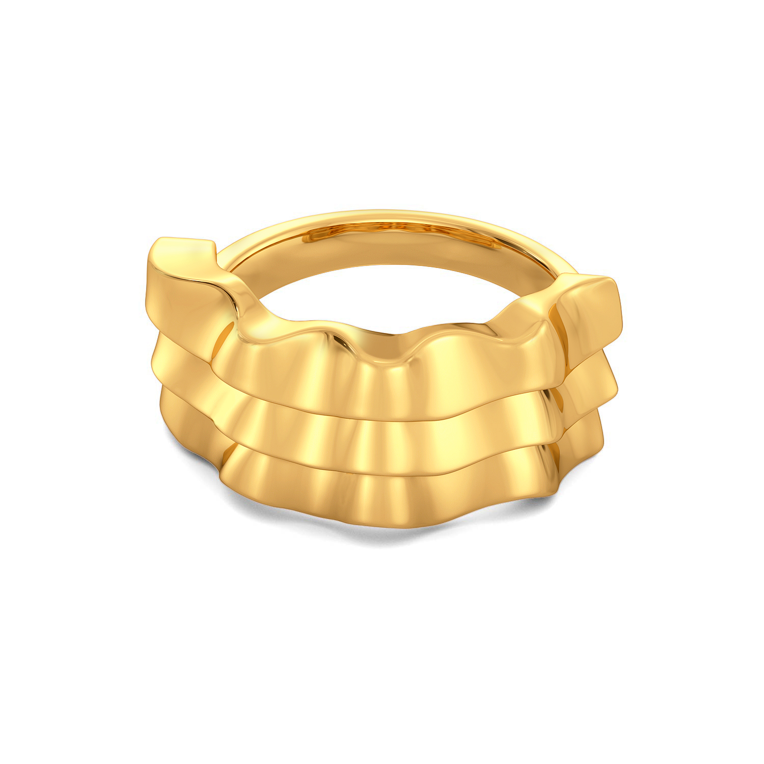 Fluff The Ruff Gold Rings